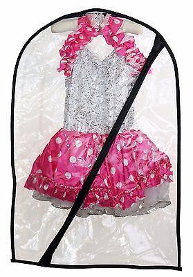 Dance Costume Bag - Children's Garment Bag for Dance - Clear