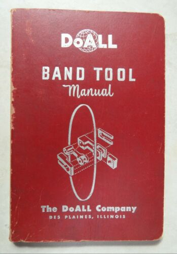 DoAll Band Tool Manual softcover 160-page paper book copyright 1952
