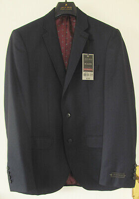 NEW - MENS - JACK REID 38R TAILORED FIT NAVY BLUE BLAZER JACKET - BOYS PROM - Boys Tailored Suits
