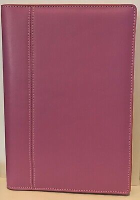 Baekgaard Rare Pink Leather Zip Around Organizer Agenda Portfolio 10 X 7
