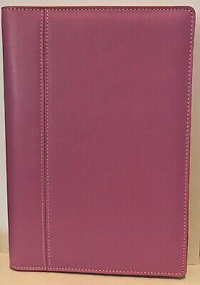Baekgaard Rare Pink Leather Zip Around Organizer Agenda Portfolio 10 X 7