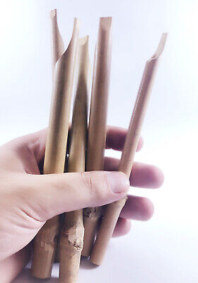 Bamboo Calligraphy Set (Set of 5 Bamboo Reed Pens Qalam For Arabic Calligraphy Classic HandMade )