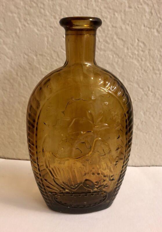 George Washington Amber Glass Bottle Eagle.