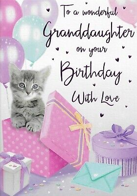 SPECIAL GRANDDAUGHTER BIRTHDAY CARD**REGAL PUBLISHING***9 X 6.5 INCHES**j4