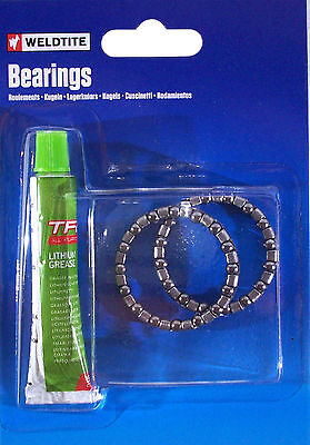 Weldtite Bike Set Ball Bearing 5 32    Lithium Grease Lubricant Bearings Headset