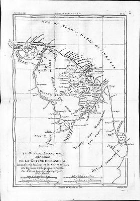Antique maps, La Guyane Francoise avec partie de la Guyane Hollandoise