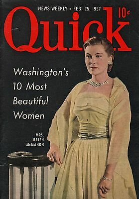 Quick News Weekly Magazine 1952 February 25 News Entertainment Photos