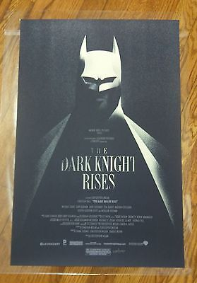 Olly Moss - 2012 The Dark Knight Rises Batman Screen Print Poster /9350 Mondo