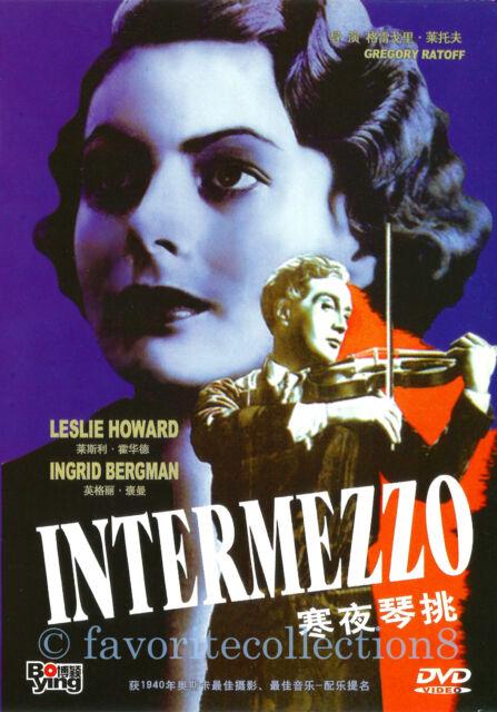 Intermezzo: A Love Story (1939) - Ingrid Bergman, Leslie Howard - DVD NEW