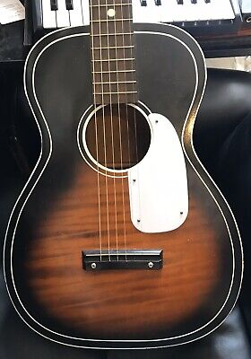 Silvertone 604 acoustic vintage guitar parlour Chicago USA blues Harmony
