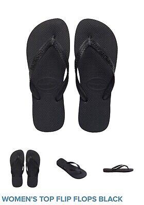 womens havaianas flip flops size 6, 7, 8,9, 10, black, navy, gold, silver