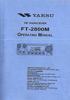 NEW Yaesu FT-2800M Operating Manual Book in English. Buy it now for 5.0