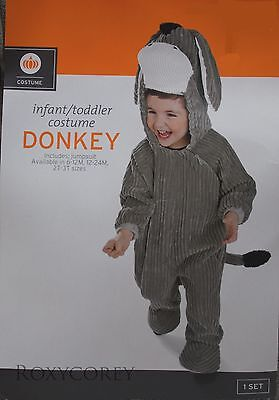 Baby Donkey Halloween Costume (Halloween Infant Toddler Gray Donkey Jumpsuit Costume Size 6-12 months)