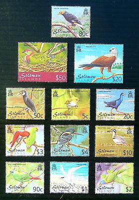 SOLOMON ISLANDS 2001 Birds Complete to $50 SG976/987 U/M WHOLESALE PRICE