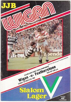 Wigan v Featherstone Rovers 1985/6 (27 Oct)