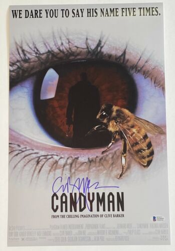 Clive Barker Signed Autographed Candyman 11x17 Movie Poster Photo Beckett COA
