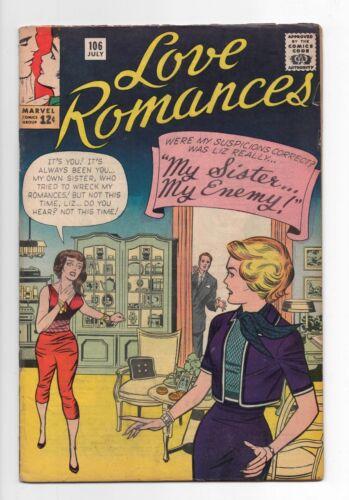 MARVEL COMICS  LOVE ROMANCES  106  1963  LAST ISSUE  KIRBY COVER