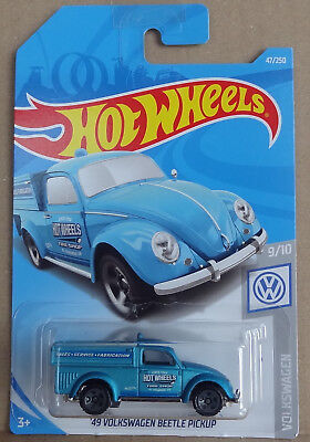 Hot Wheels - '49 VW Volkswagen Beetle Pickup - blue satin - U.S. long card - MOC
