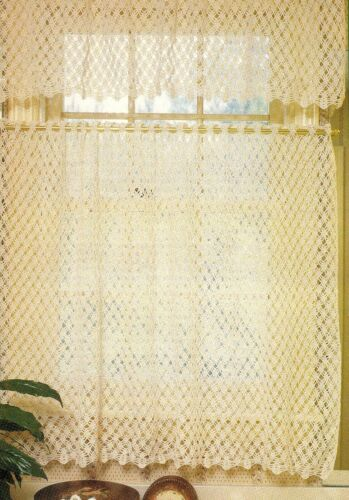 SUMMERTIME Lace Curtains/Decor/Crochet Pattern INSTRUCTIONS ONLY