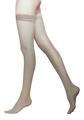6 Pairs Ladies women's Soft Shine Hold Up Stockings, 15 Denier, Black or Natural