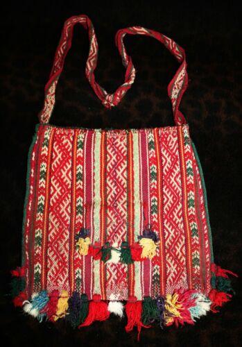 "Antique 19th Century Bolivian Aymara Large Chuspa Coca Bag 11"" x 11"""