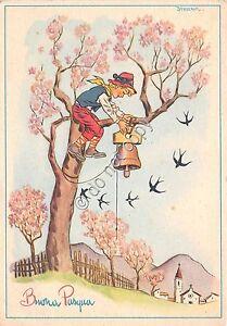 Cartolina-Postcard-Illustrata-Desiderati-Buona-Pasqua-Bambino