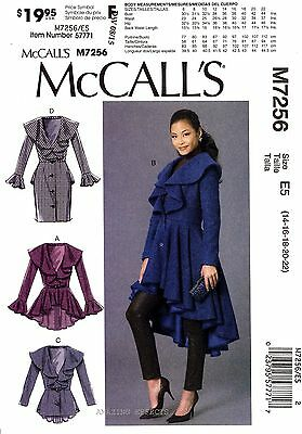 McCall's Sewing Pattern M7256 Women's 14-22 Coats 7256