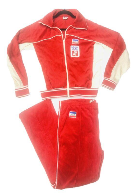 Vintage 80's Levis Zip Up Track Jacket/ Pants Olympics National Sports Festival
