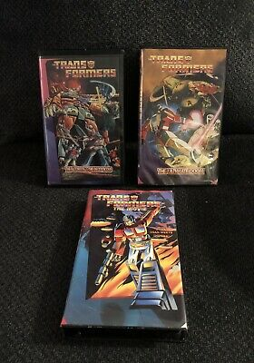 1995 Transformers VHS Lot, The Movie, The Utlimate Doom, Autobots Vs Decepticons