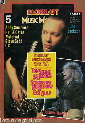 zin Mai 5,05/1983,Joe Jackson,Gianna Nannini,U2,Andy Summers (Andy Mais)