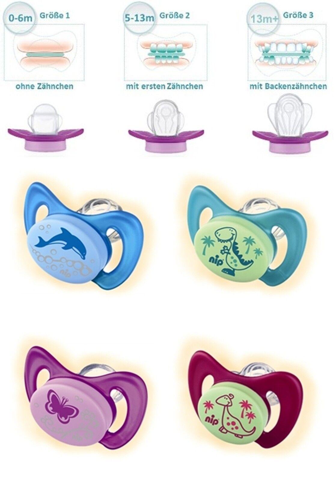 nip Dental Schnuller Miss Denti Größe 2 - 5-13 Monate mit ersten Zähnen *NEU*