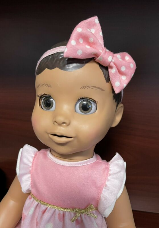 Luvabella Interactive Brunette Brown Hair Skin Baby Doll