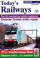 Today's Railways Europe 158 Feb 2009 Lausanne,vfli Fleet,eu Vehicle Registration - today's railway europe - ebay.co.uk