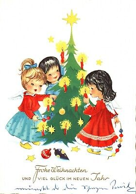 Merry Christmas and Happy New Year Greeting Card, Used Postcard A24 (Merry Christmas And Happy New Year Greeting Card)