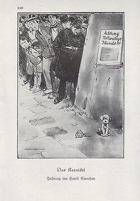 Werbung 1928 Fotografie Humor Zeichnung von Harold Earnshaw Das Karnickel