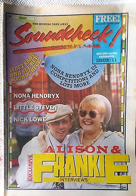 SOUNDCHECK - MUSIC PAPER ISSUE # 11 1984 FGTH + MOYET COVER COMPLETE UK ORIGINAL