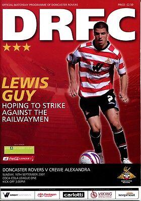 B39 Doncaster Rovers v Crewe Alexandra 16/09/07 League 1