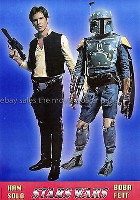 Star Wars 1979 Italian Han Solo/Boba Fett Character Poster