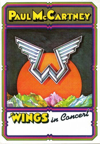 PAUL McCARTNEY & WINGS 1975 VENUS & MARS TOUR CONCERT PROGRAM-UNCIRCULATED-NM/MT