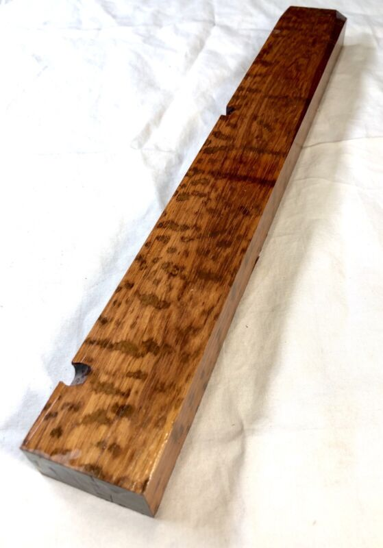 Snakewood Exotic Lumber 1''x 1.8''x 14.3'' Wood Turning Cue Pen Blank Luthier