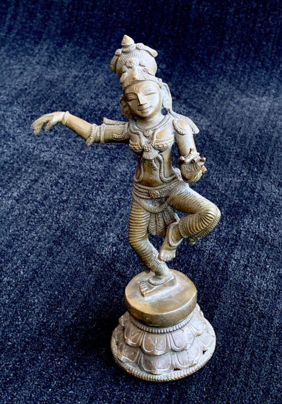 Krishna Bronze Sculpture ~ Hindu deity ~ god of compassion, tenderness, love