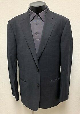 Armani Collezioni Blazer G-Line 42 R Charcoal Gray Wool Sport Coat Jacket