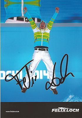 Autogramm AK Felix Loch 3 x Olympiasieger Rennrodeln mit Geisenberger Arlt Wend*