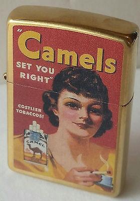 Camel Zippo Lighter WOMAN CAMELS SET YOU RIGHT CZ RARE 46 MADE NEW