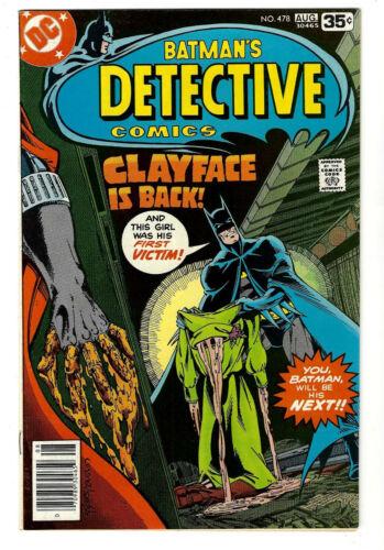 Detective Comics #478 (9.2) High Grade Gem WHITE PAGES