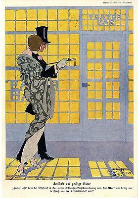 Hans Schöllhorn Teater-Bar Leibliche und geistige...Histor.Kunstdruck 1914