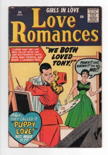 MARVEL ATLAS COMICS  LOVE ROMANCES  84  1959  MALE PUBLISHING