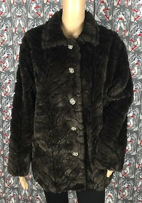 Pine Cone Designs Palmer Lake Co Brown Thick Fleece 5 Buttons Down Jacket Size S