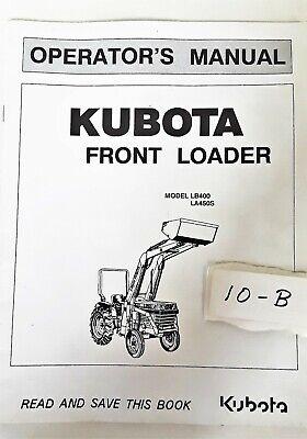 Kubota Lawn Tractor Front Loader Lb400 La450s Operators Manual