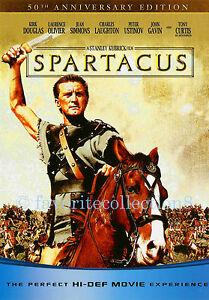 Spartacus (1960) - Kirk Douglas, Laurence Olivier, Jean Simmons - DVD NEW